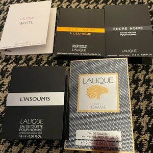 Set of 5 Lalique samples